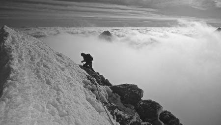 Roche Paillon Ecrins Glacier Balnc